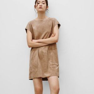 Wilfred Free Nori Brown Faux Suede Dress S